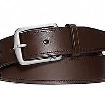 Coach Hamptons Smooth Leather Men's Belt 42 Inches F66101 Photo