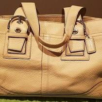 Coach Handbag Beige Pre Owned in Mint Condition Photo