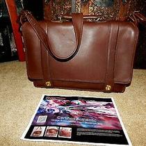Coach Handbag Briefcase 5274 Essex Messenger Chestnut Brown Full Leather Coa Usa Photo