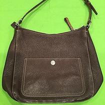 Coach Handbag Brown Leather Medium Photo