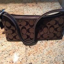 Coach Handbag Brown Signature Brown Leather Photo