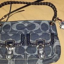 Coach Handbag Denim Blue Photo
