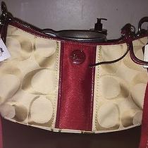 Coach Handbag Gold and Red Photo