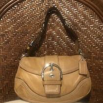 Coach Handbag Leather Beige Photo