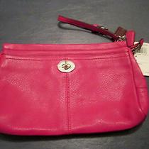 Coach Handbag Leather Purse Park Leather Large Clutch 188 Sale Cranberry Sale Photo