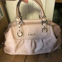 Coach Handbag - Light Pink Leather Photo