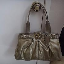 Coach Handbag Metallic Green Photo