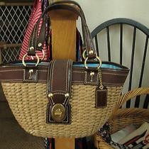 Coach Handbag No Mo668-10728 Natural Straw Collection.  Photo