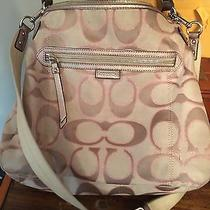 Coach Handbag Pink and Brown  Photo