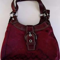 Coach Handbag Pocketbook Rich Maroon Color Excellent Condition No. J1193-F17094 Photo