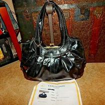 Coach Handbag Purse Ergo 12520 Kisslock  Black Leather Bag Coa Carryall Euc Hobo Photo