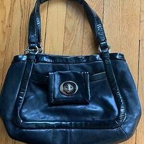 Coach Handbag Purse - Genuine Leather - Black Photo