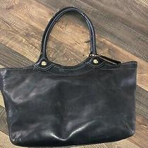 Coach Handbag Purse Large Tote Bag Black Leather 12412 Photo