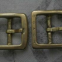 Coach Handbag Purse Repair Replacement Buckle Brass Lot 2 Photo