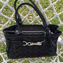 Coach Handbag Purse Tote Black Photo