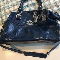 Coach Handbag / Shoulder Bag -Rare Cobalt Blue Patent Leather Photo