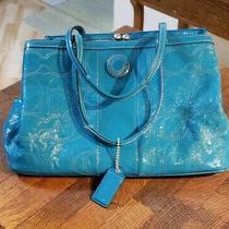 Coach Handbag Teal Color Photo