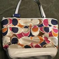 Coach Handbag X Large Multi-Color Scarf Style Photo