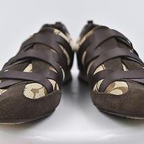 Coach Harmonie Womens Brown Monogram Sneakers Sz 8.5 Suede Casual Shoes Photo