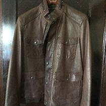 Coach Harrison Brown Leather Men's Jacket Sz Large Nwot Never Worn Photo