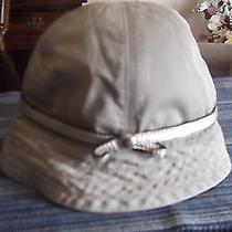 Coach Hat Tan With Metallic Leather Strap Xs/s  Cute Rare Photo