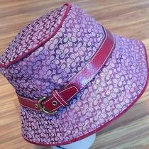 Coach Hat With Leather Buckle Red Photo
