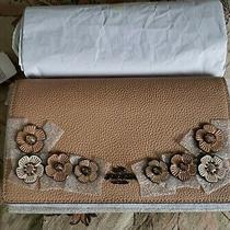 Coach Hayden Foldover Clutch With Crystal Tea Rose 38970 Nude Pink/gunmetal Nwt Photo