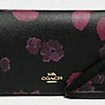 Coach Hayden Foldover Crossbody Clutch Black Multi Halftone Floral Gothic Nwt Photo