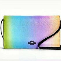 Coach Hayden Foldover Crossbody Clutch Ombre Multicolor Rainbow Bag 91996 Nwt  Photo