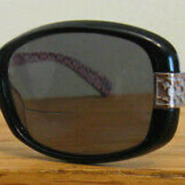 Coach Hc 8003 L004 Lillian 5034 5518 135 Black Sunglasses 3.0 Reader Inserts Photo