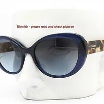 Coach Hc 8049 5110/17 Sunglasses Navy Blue & Brown Yellow Tortoise - Blemish Photo