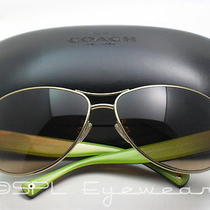 Coach Hc7001 Taylor Sunglasses Gold Tortoise Brown Gradient Lens Hc 9005/13 New  Photo