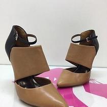 Coach Heart Women Black/tan Leather Heels   Size 8.5b Photo