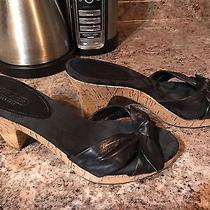 Coach Heel Sandal Size 7.5 Black Great Condition Photo
