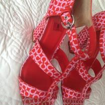 Coach Heels Red Pink 8 B Photo