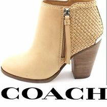Coach Heidi Natural Leather Ankle Boot/booties High Heels Women's Photo