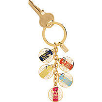 Coach Heritage Discs Key Ring Chain Charms Fob 92305 Retail 58 Nwt's Photo