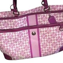 Coach Heritage Multifunctional Magenta Diaper Bag Photo