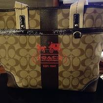 Coach Heritage Striped Tote Photo