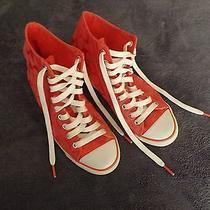Coach Hi Top Sneaker Shoe Pink Size 7b Photo