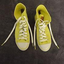 Coach Hi Top Sneaker Shoe Yellow Size 7b Photo