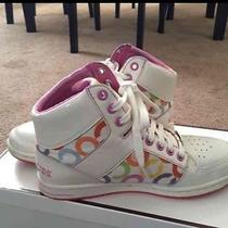 Coach High Top Sneakers 8.5 Euc Comes With Box Photo