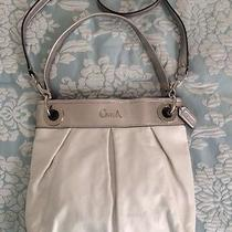 Coach Hippie Leather White Off White/ivory & Silver - New Wot Photo