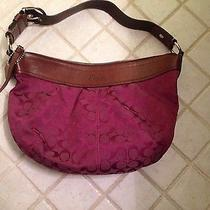 Coach Hobo Shoulder Purse - Wine Photo