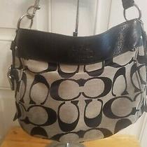 Coach Hobo Zoe Shoulder Bag K1182-F12657 Black Gray Monogram/ signature&wristlet Photo