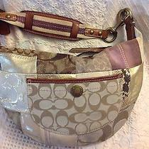 Coach Holiday Multi-Color Patchwork Hobo Handbag 13