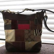 Coach Holiday Patchwork Logo Fabric/leather Satchel Photo