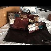 Coach Holiday Patchwork Purse and Matching Wallet Photo