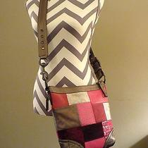 Coach Holiday Patchwork Shoulder Bag Crossbody Duffle 12863 Pink   Photo