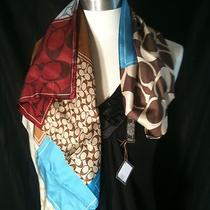 Coach Holiday Patchwork Silk Scarf - New Photo